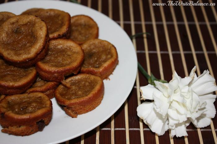 flourless muffins close up