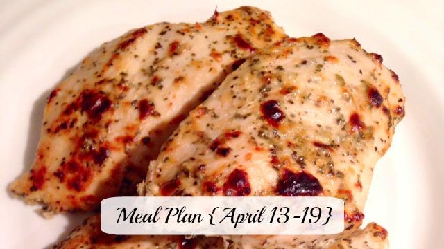 Meal plan April 13