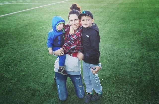 lisa dutton with kids