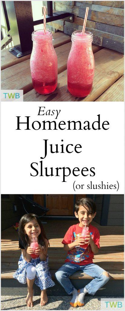 Homemade Slurpees with Juice