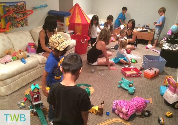 Mudderella training with kids