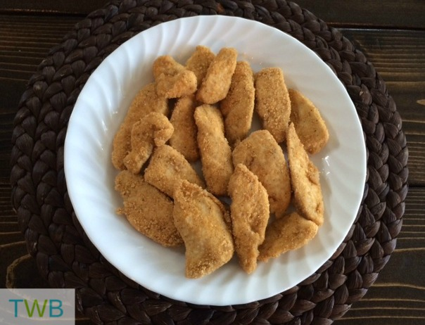 finished chicken strips