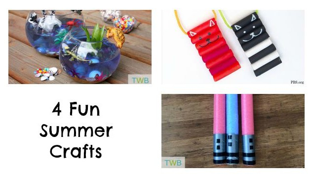 4 Fun summer Crafts
