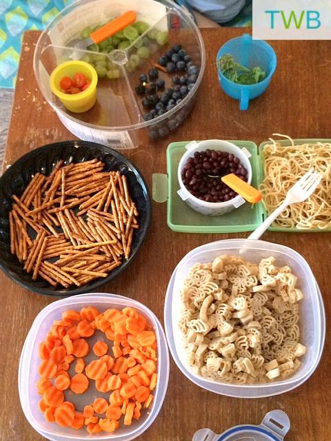 Food art party ingredients