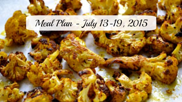 Meal plan July 13, 2015