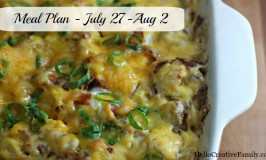 Meal plan July 27
