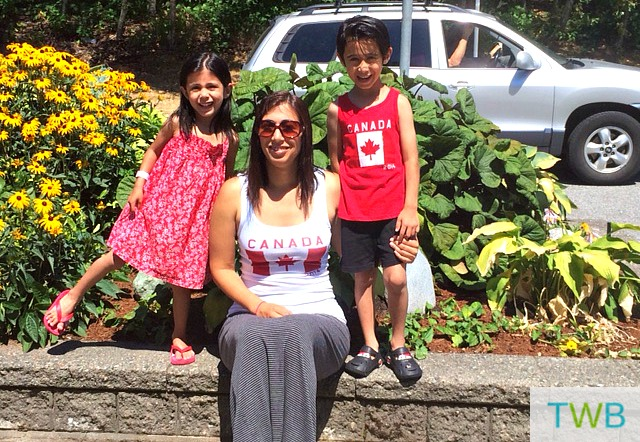 family Canada Day 1