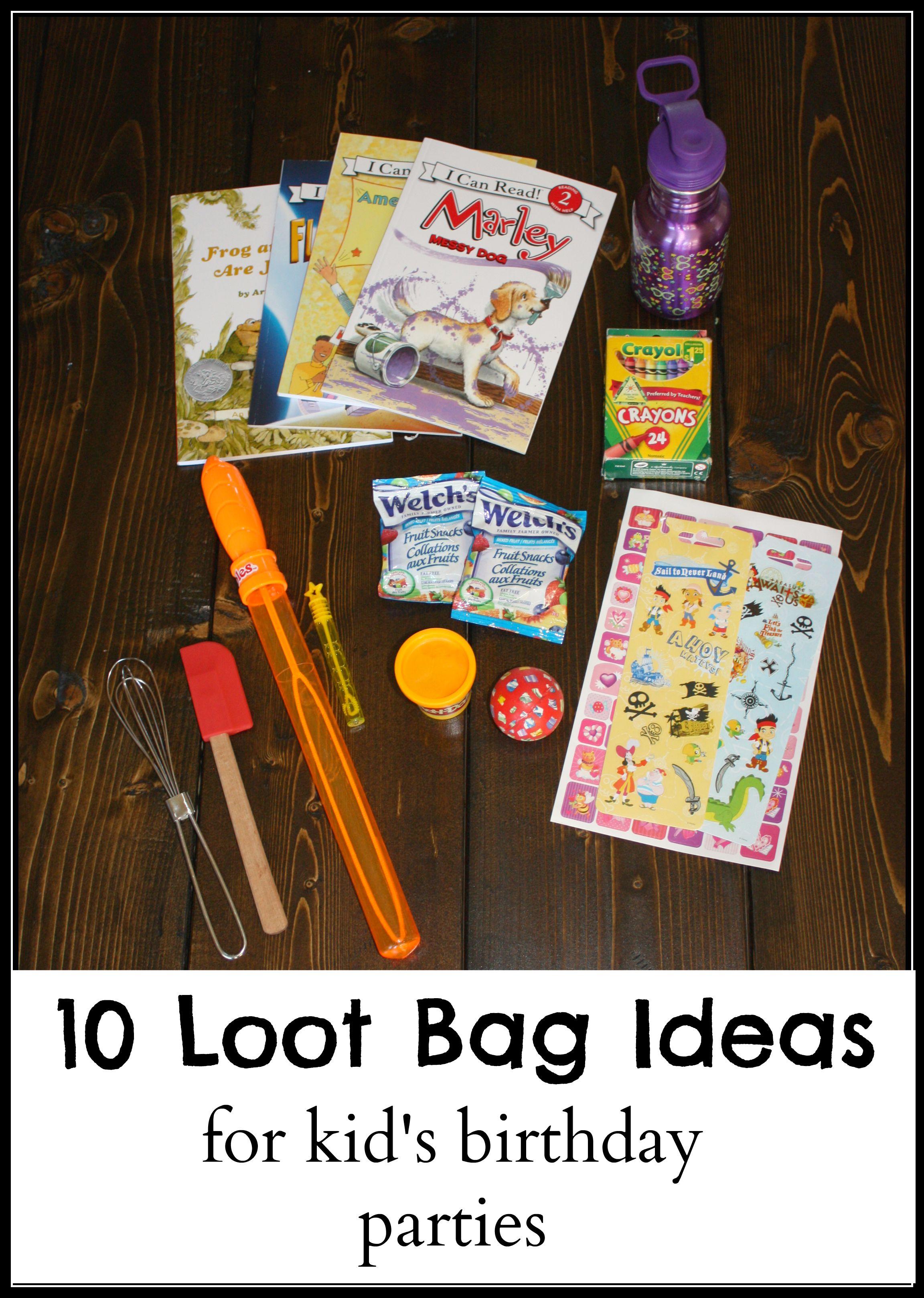 10 Loot Bag Ideas
