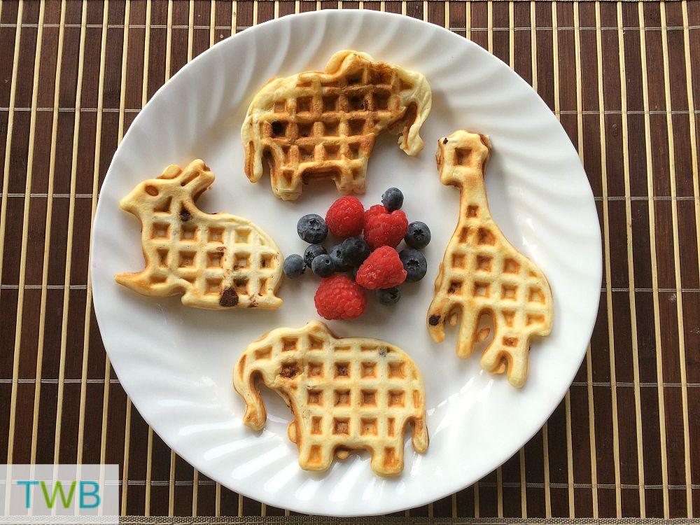 Animal shaped waffles