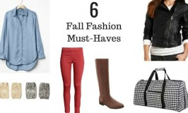 6 Fall Fashions Must-Haves
