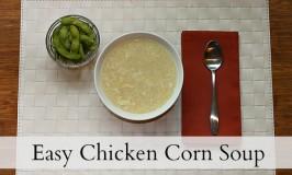 Easy chicken corn soup
