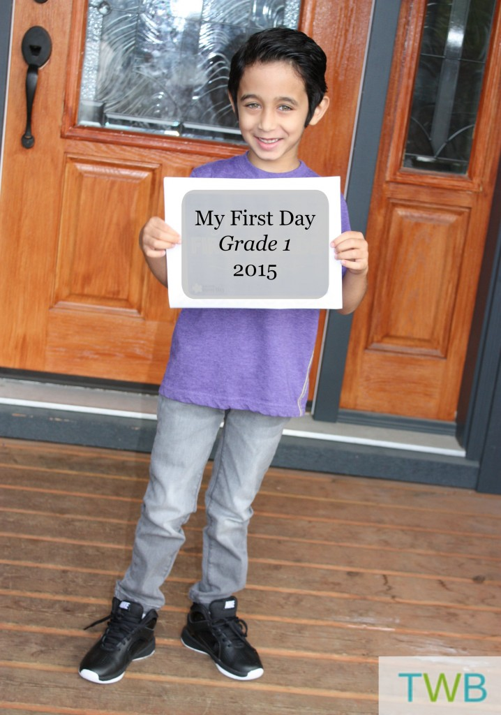First Day of School 2015 - Keyan