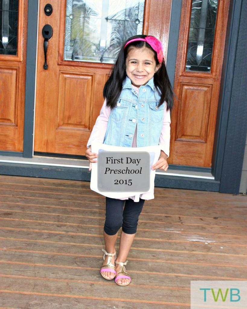 First Day of School 2015 - Kyah