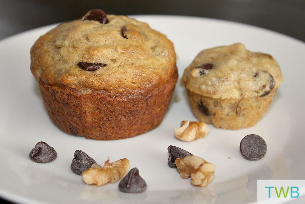 School Snacks - Banana Chocolate Chip Muffins