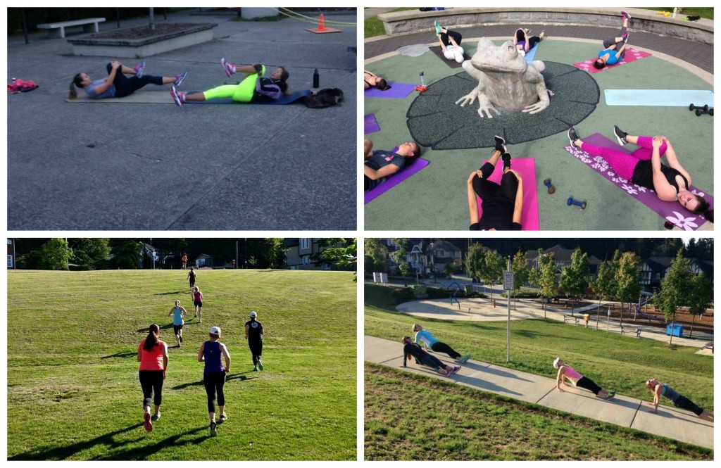 Early Morning Bootcamp collage