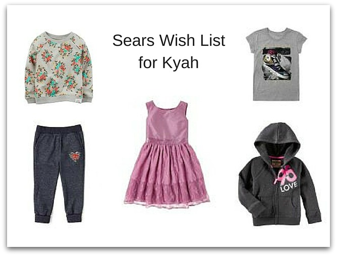 Sears Wish List for Kyah