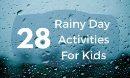 Feature - 28 Rainy Day Activites for Kids - feature