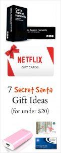 7 Secret Santa Ideas - For Under $20