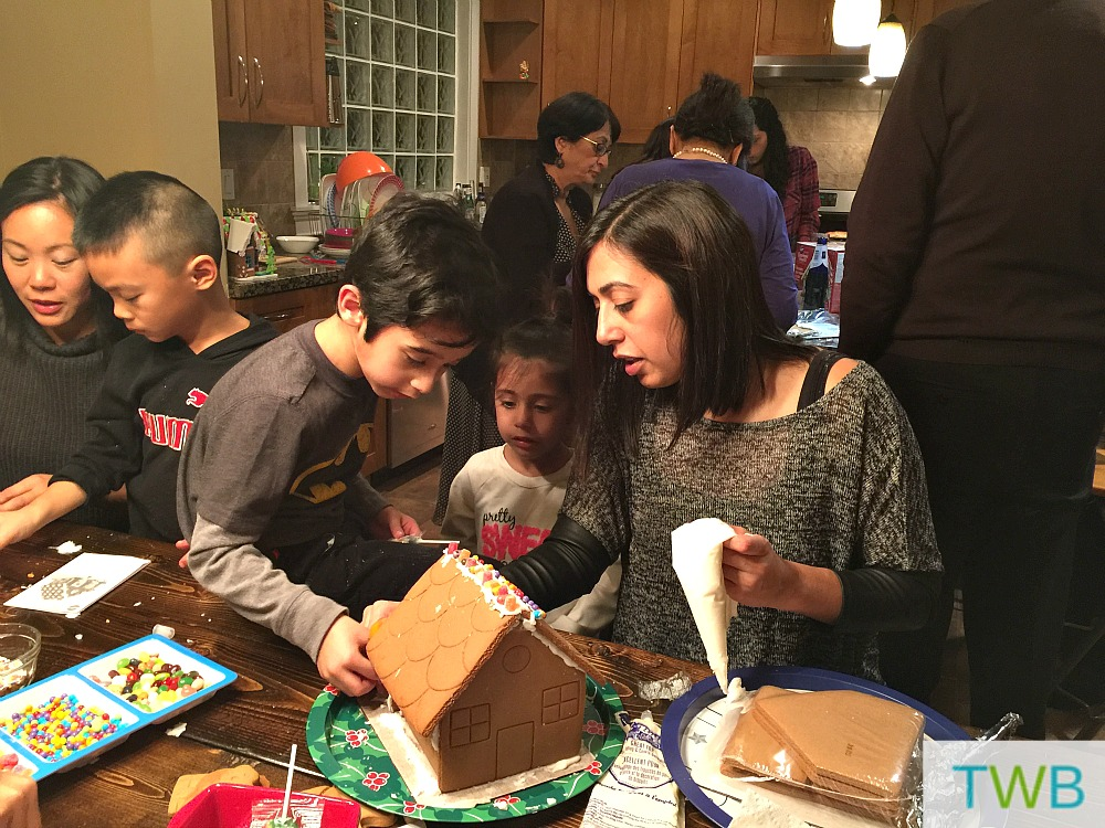 Making gingerbread houses 1