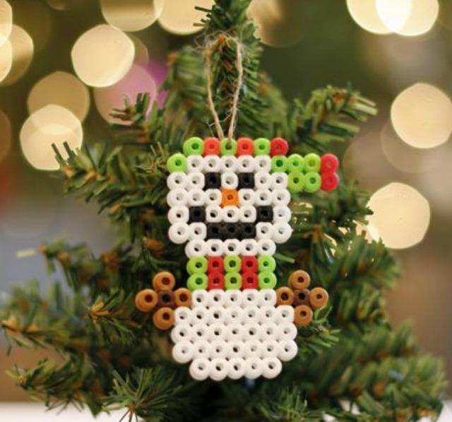 Homemade Ornaments - perler beads