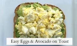 Eggs & Avocado on toast - feature