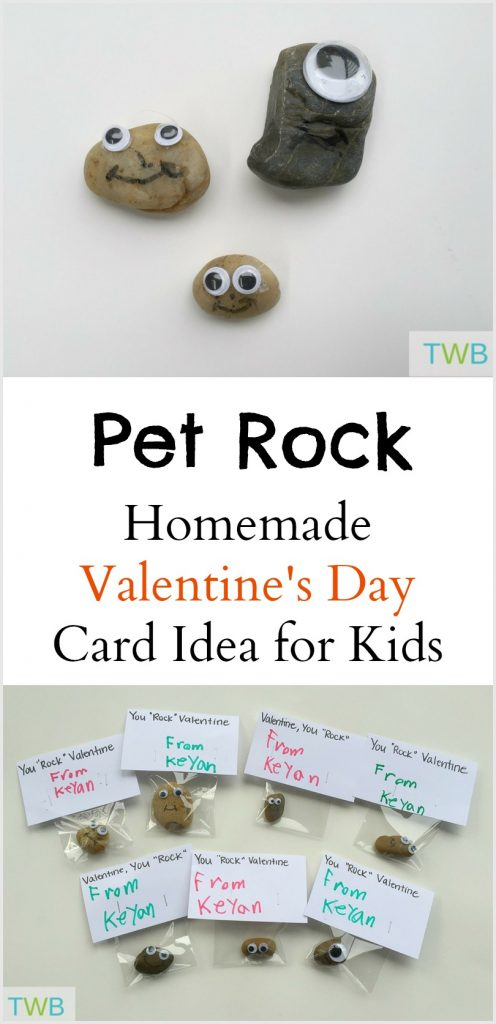 Homemade Valentine Cards - Pet Rock