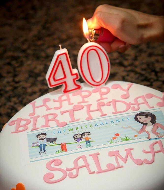 40th - cake