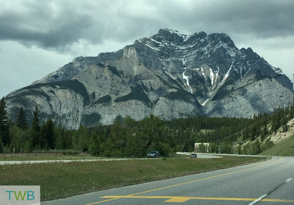 Our amazing view of Cascade Mountain as drove into Banff.