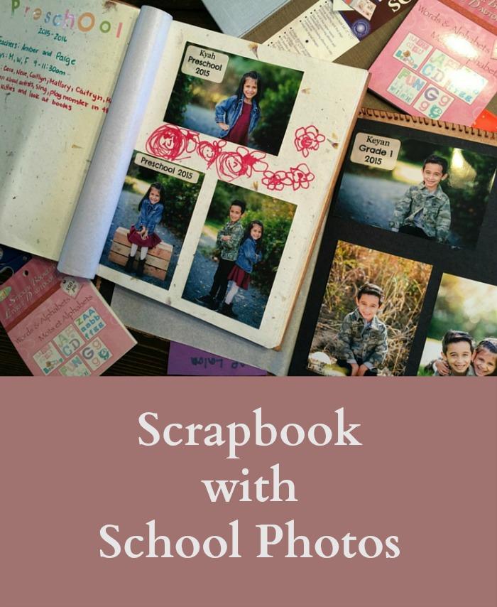 School Photos Scrapbook - pin