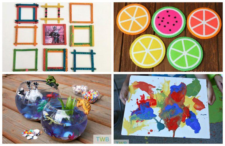 8 Fun Summer Crafts - feature