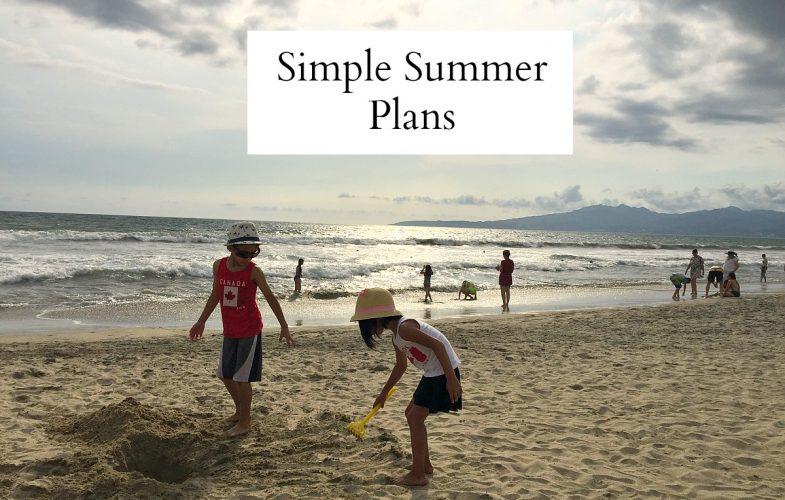 Simple Summer Plans