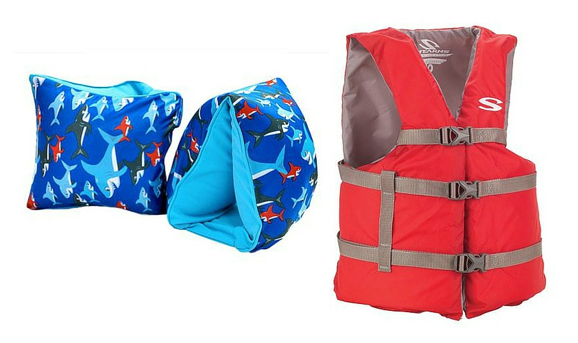 10 family beach vacation tips - floater & life jacket