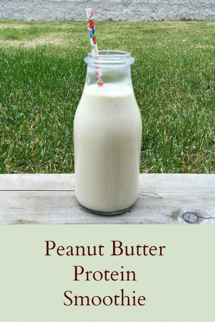 Peanut Butter Protein Smoothie - Pinterest