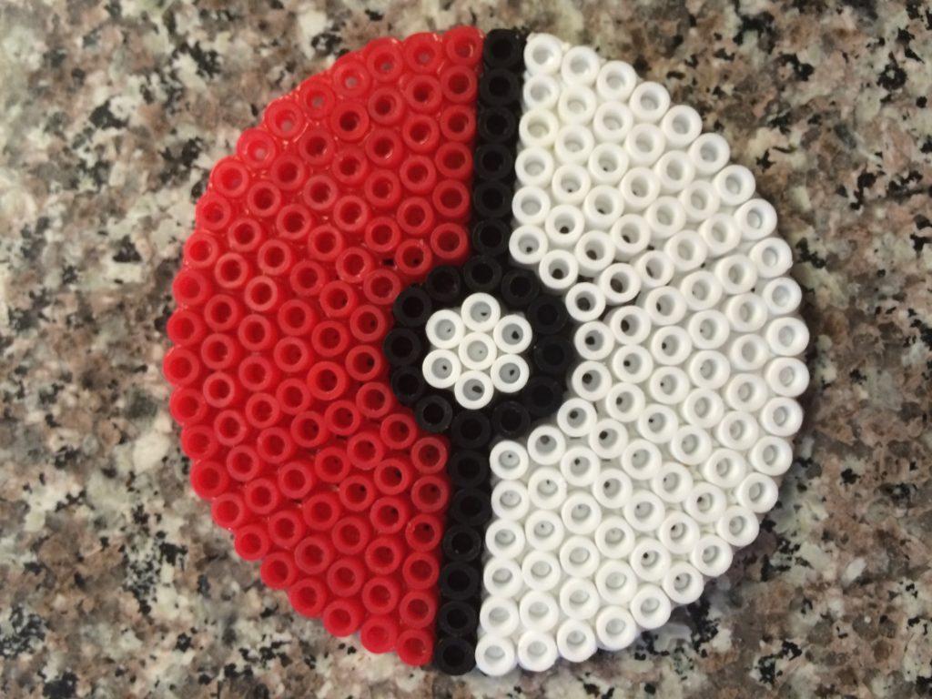 Perler bead pokemon ball