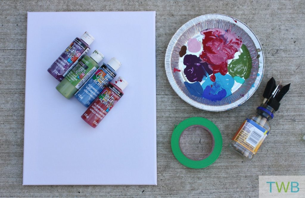 Tape painting - supplies