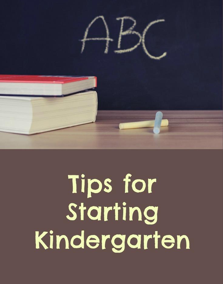 Tips for starting kindergarten - pinterest