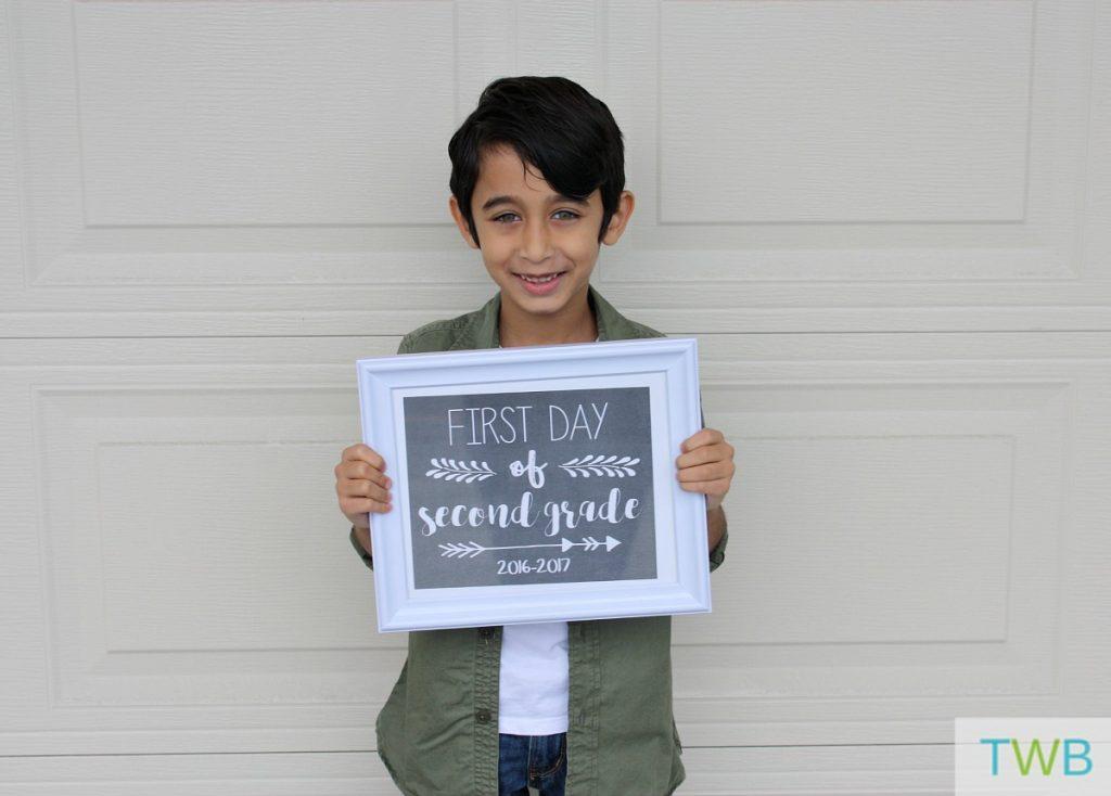 Keyan first day of school 2016 - 1