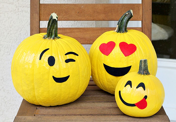 5 Pumpkin Decorating Ideas-emoji