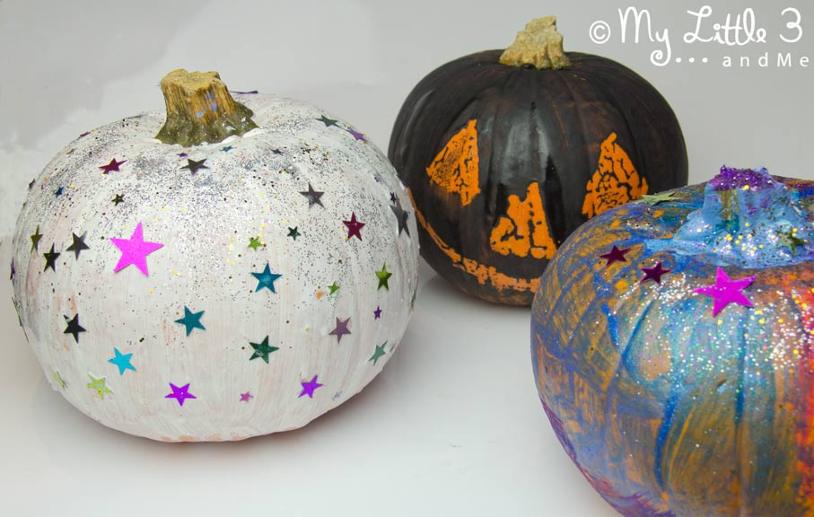 5 Pumpkin Decorating Ideas - painted
