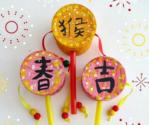Chinese New Year Crafts - drum