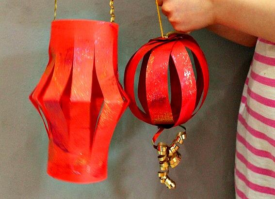 Chinese new year crafts - lanterns