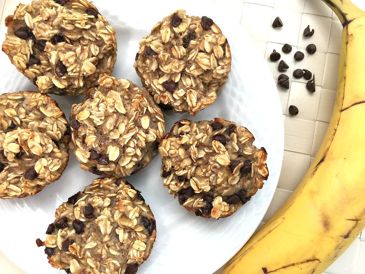 Flourless Oatmeal Breakfast Muffins - feature