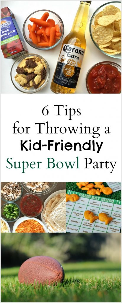 Tips for throwing a kid friendly Super Bowl party