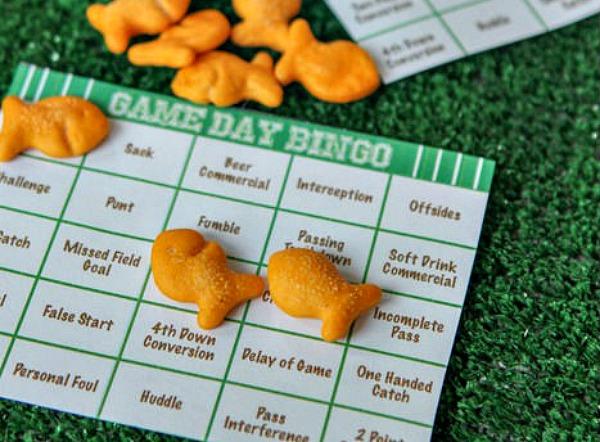 super bowl party - football bingo