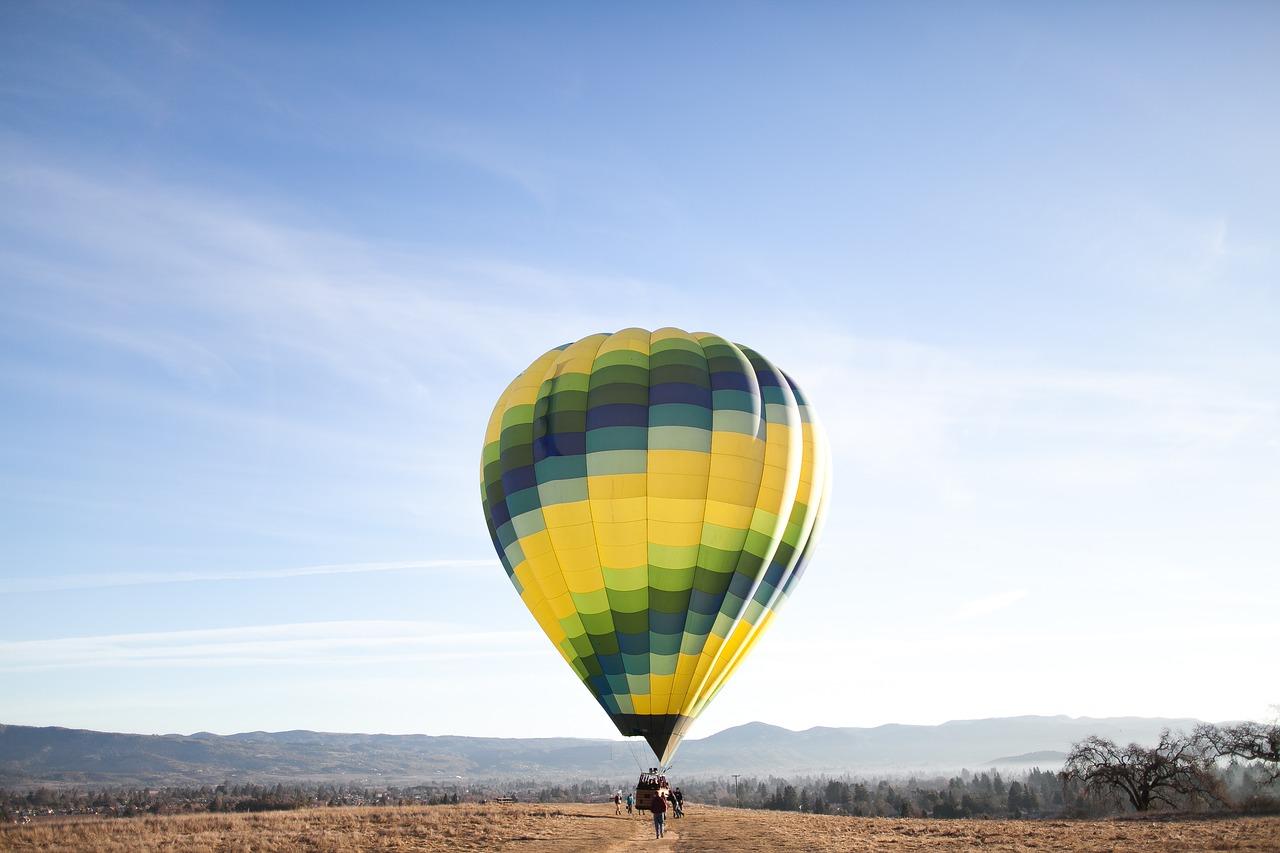 Family Birthday Party Ideas - hot air balloon ride