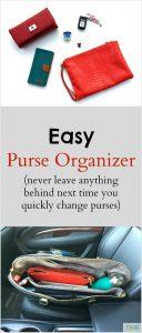 Easy Purse Organizer