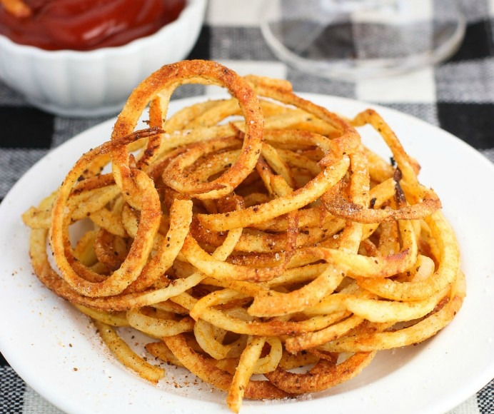 Spiralizer curly fries
