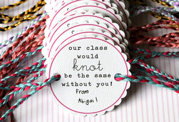 Valentine's Day Gift IDeas for the classroom -friendship bracelets