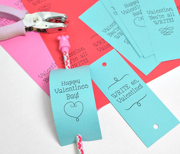 Valentine's Day Cards for School - Pencil Card