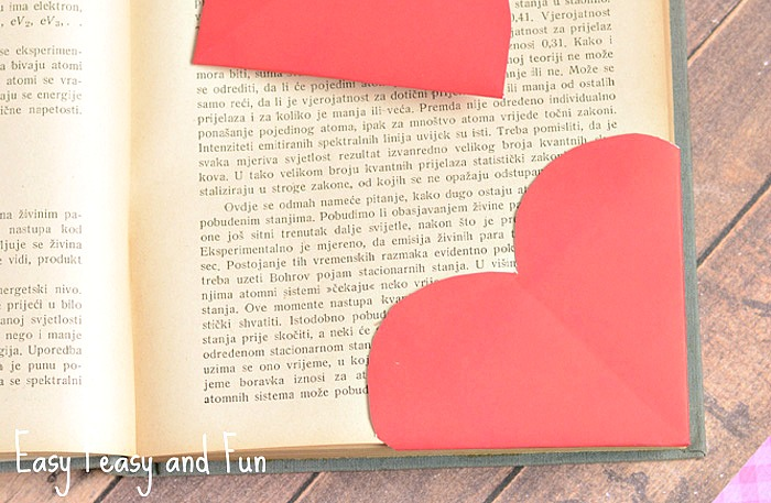 Valentine's Day Cards for School - origami heart bookmark